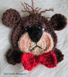 Bear Applique Crochet Pattern pattern on Craftsy.com