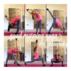 Good morning yoga sequence! @fit_ashleynedia