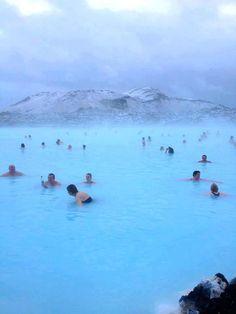 Blue Lagoon Geothermal Spa in Iceland.