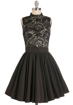 Dancer's Delight Dress. Move your feet to the stylish beat in this delightful party dress! #black #modcloth