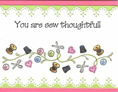 Sew Thoughtful - To see more ideas and order Stamps by Judith & Heather go to www.stampsbyjudith.com