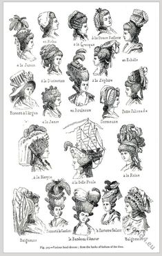 18th Century French hairstyles