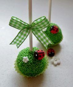 Ladybug Garden Cake Pop