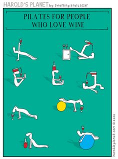 Pilates for people who love wine :) #funny