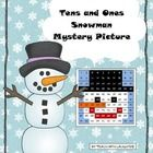 Place value tens and ones mystery picture.  Perfect for a winter day!  Solve then color.
