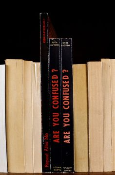 Sorted Books, book spine poetry by Nina Katchadourian