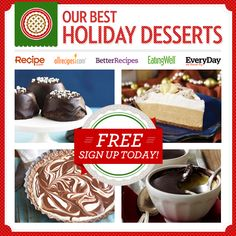 20+ Of Our Best Holiday Dessert Recipes Delivered Right to Your Inbox!