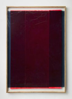 """Graham Collins. """"Gummy Vitamins,"""" 2013. Acrylic on canvas, reclaimed wood, glass and window tint."""