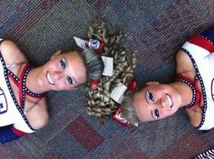 Love the makeup #KyFun CHEER competitive cheerleaders hair bows m.13.51 moved from @Kythoni main cheerleading board
