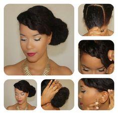 bang twist, natural hair updo tutorial, twist updo