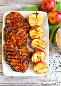 These Apple Cider Glazed Pork Chops are AMAZING!  Perfectly seasoned, juicy, delicious and ready in under 30 minutes!