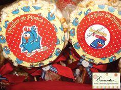 Pirulito de Pipoca Galinha Pintadinha - Encantar Festas & Lembranças Personalizadas