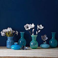 Flared glass vases