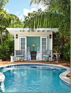 adorable pool house