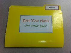 Spell Your Name- File Folder Activity