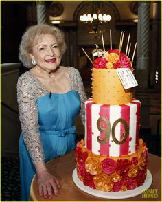 Betty Whites 90th birthday party cake. Love it...and her!