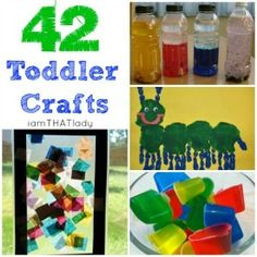 Easy crafts...I love the handprint caterpillar!! (: