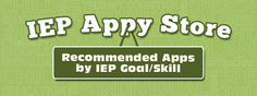 Apps by IEP Goals/Skills