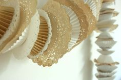 doily and cupcake liner garland