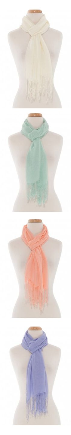 Pastel Scarves for Spring and Summer!