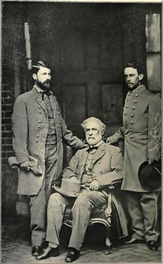 Robert E. Lee with his son, Major-General G.W.C. Lee, and his aide, Colonel Walter Taylor