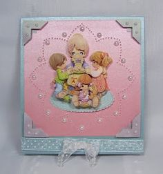 Paper toled Precious Moments with paper pricking