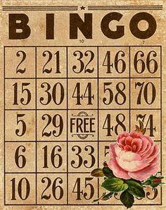 vintage bingo card #free #printable