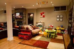 Basement Playrooms, Finished Basement, Basement Renovation