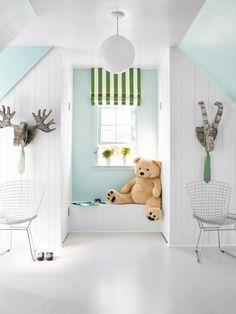 Closet Reading Nook in Unused Attic Space Becomes Boys' Bedroom from HGTV