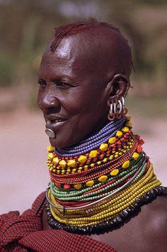 pinterest.com/fra411 #ethnic - Turkana Woman