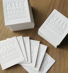 Kelly Kerwick letterpress blind embossed cards