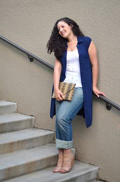{Casual Cool} REAL Curvy Girl inspiration from Tanesha Awasthi, her blog: Girl With Curves