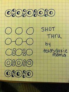 #ShotThru #zentangle