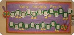 Very Hungry Caterpillar Bulletin Board bulletin boards, hungry caterpillar, craft ideas, art activities, writing activities, art projects, preschool, hungri caterpillar, eric carle