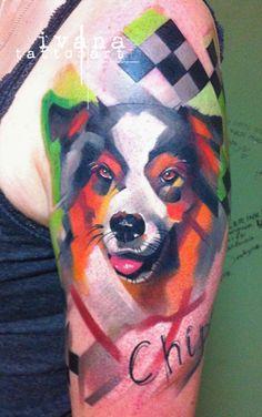 Portrait of Dog Chipper http://instagram.com/ivanatattooart