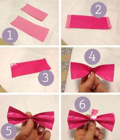how to make a duct tape bow #diy