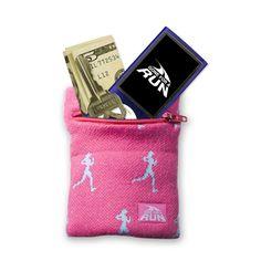WristSTASH Sweatband Wrist Wallet- Runner (Pink)