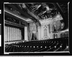 Interior view of the Hollywood Pantages Theater auditorium, [s.d.]