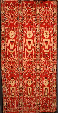 Cotton ikat  hinggi, from Sumba, Indonesia