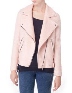 Pink biker jacket by Stradivarius