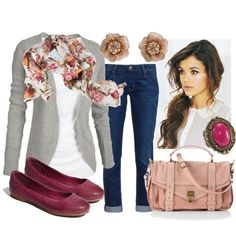 """Fall Floral Fuchsia"" by qtpiekelso on Polyvore"