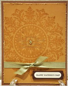 Stampin Up using Medallion  rubber stamp could make Birthday, wedding, etc
