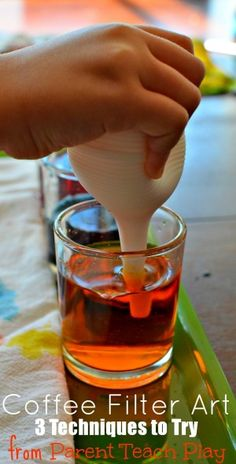 Coffee Filter Art 3 Ways - great fine motor practice from Parent Teach Play