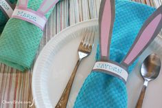 bunny napkin rings. fun for Easter brunch!