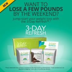 3 day refresh - Anyone looking to lose a few pounds quickly and/or to look and feel better in just 3 days? I will have a support group starting for anyone wanting to lose weight quickly, to feel lighter, to feel cleaner and healthier, to improve digestion, to curb cravings for junk food, or to improve mental clarity. Group starts June 30th. www.beachbodycoach.com/getfitarkansas
