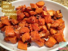 Amazingly simple and delicious sea salt sweet potatoes Thanksgiving sides, sweet potato recipes