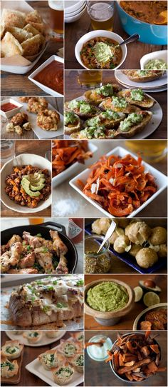 Super Bowl Party Menu - everything you could possibly want for game day!