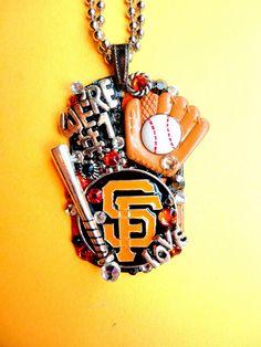 San Francisco Giants Dog Tag Pendant Number 1008 by BradosBling, $39.99