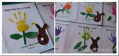 Spring Easter Preschool Handprint Art