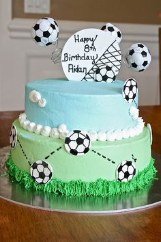 another soccer cake idea